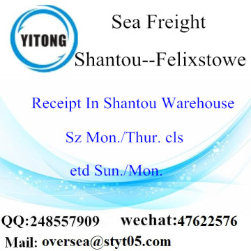 Shantou Port LCL Consolidation To Felixstowe