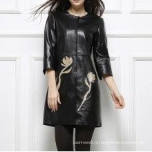 Женщина Натуральная Мягкая Тонкая Кожаная Куртка