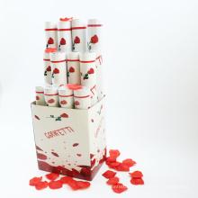 Popper de haute qualité de nouveau produit avec pétale de rose rouge pour le mariage