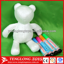 Fashion washable coloring stuffed bear toy