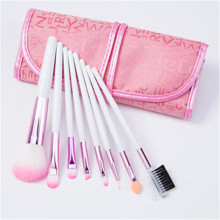 8PCS rosafarbene Farben-synthetische Haar-Verfassungs-Bürsten eingestellt