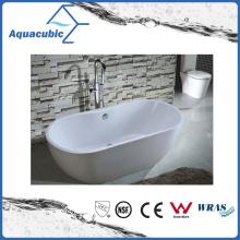 3 Sizes Bathroom Oval Solid Surface Freestanding Bathtub (AB6906-2)