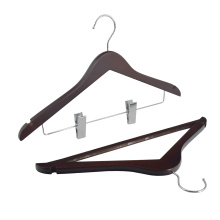 Wholesale manufacturer ticken antique wooden suit hanger custom wood hange for cloths