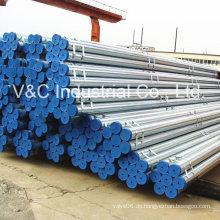 Heiß getauchtes verzinktes Stahlrohr für den Bau