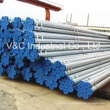 Tubulação de aço galvanizado mergulhado quente para a construção