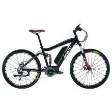 Bicicleta elétrica de pneus gordos de montanha com bateria oculta de 26 polegadas