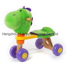 Bicicleta de madera del bebé de la alta calidad con la cabeza del dinosaurio