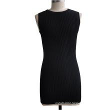 75%Viscose 25%Nylon Sleeveless Tunic Sweater Dress