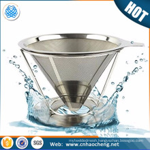 Removable rack stainless steel coffee dripper coffee filter coffee strainer