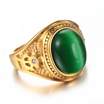 925 sterling silver jewery Green agate stone ring