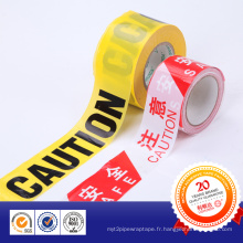 Nouveau ruban d'avertissement de barrière matérielle de PE pour la route et la police