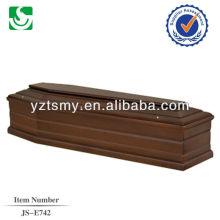 Дешевые простой деревянный гроб с атласной отделкой