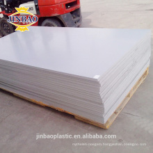 JINBAO hard surface building material 3mm 4mm PVC rigid sheets