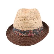 Sombrero de paja de los hombres de la manera, verano gorra de beisbol
