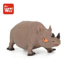 Pädagogische Spielzeug Nashorn Modell tpr Gummi Wild Spielzeug Tier für Kinder