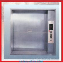 Elevador de mercancías Ascensor manual de puertas correderas abiertas manuales