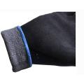 Poliéster azul fuera de la cáscara, Terry gris cepillado interior, de punto guantes recubiertos con nitrilo negro de Sandy en la palma (N1611) de trabajo