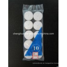 Preço barato 10 PCS Branco Tealight Unscented Vela em Polybag Embalagem
