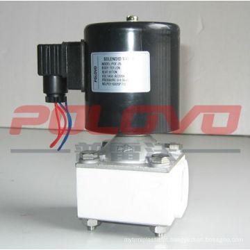Válvula solenóide ácida de ação direta de teflon de plástico POF