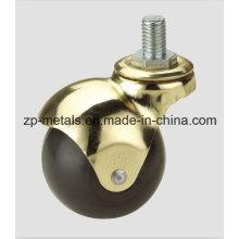 1.5inch Rubber/PVC Screw Ball Caster Whe