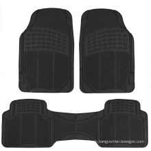 Proliner Original 3PC Heavy Duty Front & Rear Rubber Floor Mats for Car SUV Van & Truck, All Weather Protection Universal Fit
