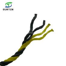 4 Strand PE/HDPE/Nylon/Polyethylene/Plastic/Fishing/Marine/Mooring/Twist/Twisted Tiger Rope for Singapore