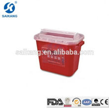 SKQ025 Sharps Container Small Stackable Surgical Supplies Syringe Needles Box