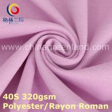 Polyester-Rayon-Schuss-gestrickter römischer Stoff für Hosen-Kleid (GLLML379)