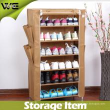 Gabinete de almacenamiento vertical plegable portátil impermeable del estante de zapato