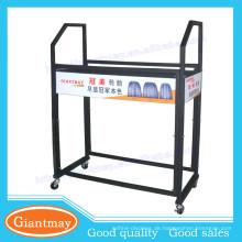 Warehouse sortiert stabls Metall Stand Display Lager Auto Reifen für Shop mit Rädern