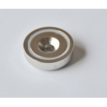 Neodymium Magnet in Steelpot with Countersunk Hole