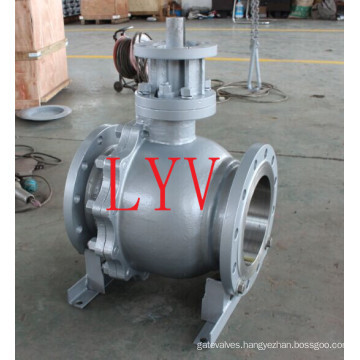 API 150lb 12 Inch Cast Steel Floating Ball Valve with China Professional Factory