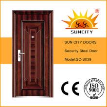 Steel Door Price Iron Grill Door Designs for Apartment (SC-S039)