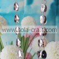 17*28mm White Shinny Cut Diamond Beads Garland Teardrop Beaded Curtain For Chandelier Prism