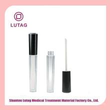 Recipiente de lustro bonito lábio único frasco plástico cosmético
