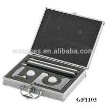 Estuche de viaje de golf de aluminio portable con inserto de espuma personalizadas