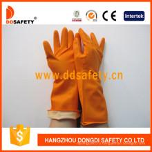 Латекс резиновые перчатки Брызга погружения вкладыша стадо DHL302