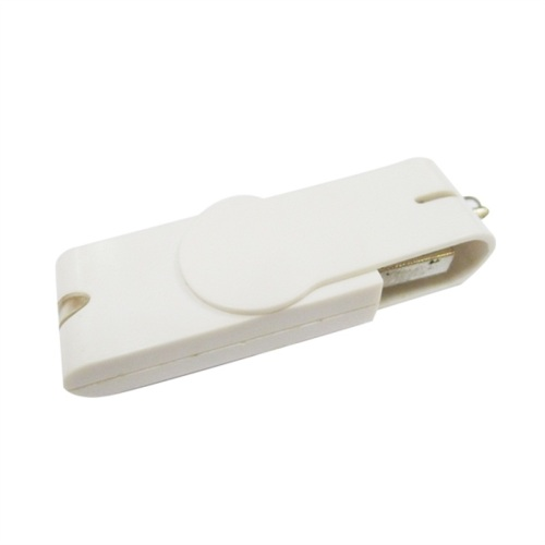 Clip giratorio de plástico blanco de 8 GB USB Flash Drive
