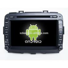 Glonass / GPS Android 4.4 Miroir-lien TPMS DVR voiture multimédia central pour KIA Carens avec GPS / BT / TV / 3G