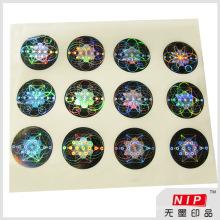 Aceitar a ordem personalizada holograma adesivos de segurança com efeito UV