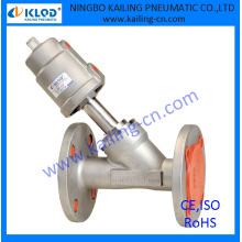 """flange connection, stainless steel material fire angle valve, KLJZF-1/2""""SS-F"""