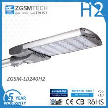 El poder más elevado 240W Street LED enciende IP66 Ik10 26400lm