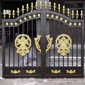 Diseños modernos de la puerta de hierro forjado de lujo del carril seguro