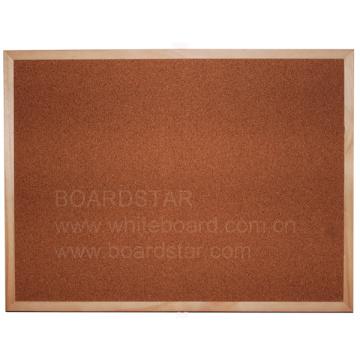 Natural Wood Framed Cork Board (BSCLO-W)