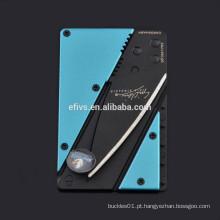 2015 Quente !!! Multifuncional bolso faca de cartão de crédito, atacado, bem-vindo à ordem.