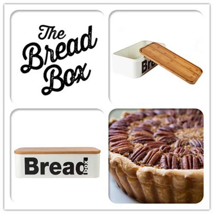 White Bread Box Wood Lid