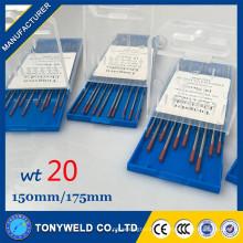 TIG сварки 2% Торированного 3.0*150 мм красный вольфрамовый электрод для TIG сварки машины