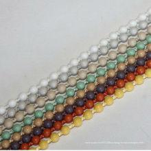 Роликовые шторы пластиковая шариковая цепь, шариковая цепочка шариков 4,5 * 6 мм, занавес аксессуар, кремовый или цветной пластиковый шарик цвета IVORY