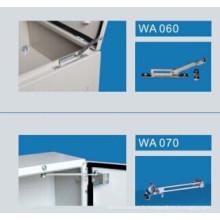 Arrêt de porte métallique pour coffrets en acier et armoires