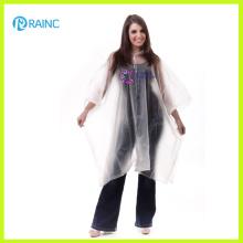 Poncho de pluie en PVC transparent de luxe